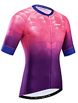 cheap -21Grams Women's Short Sleeve Cycling Jersey Summer Rose Red Bike Jersey Top Mountain Bike MTB Road Bike Cycling UV Resistant Breathable Quick Dry Sports Clothing Apparel / Stretchy / Race Fit