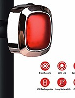cheap -bike tail light rechargeable bike brake light with intelligent brake sensor 5 modes cycling taillight ipx6 waterproof multifunctional safety warning light - rose gold