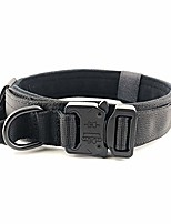 cheap -tactical dog collar,military training control handle,nylon adjustable,heavy duty metal buckle