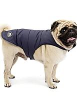 cheap -waterproof reflective dog coat outdoor walking double-sided to wear jacket (blue, 4xl)
