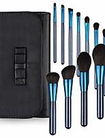 cheap -12 pcs makeup brush set with case professional cosmetic brushes for powder foundation, eyeshadow, eyeliner, blue