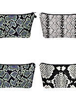 cheap -1pc Travel Organizer Cosmetic Bag Travel Toiletry Bag Large Capacity Waterproof Travel Storage Durable Snake Print Polyester For Portable Foldable Luggage