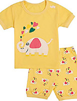 cheap -girls pajamas set short sleeve pjs 100% cotton summer sleepwear 12m-12year clothes (pajamas2, 10 years/us 10)