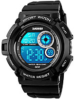 cheap -skmei mens military multifunction digital watches 50m water resistant electronic 7 color led backlight black sports watch litbwat