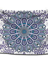 cheap -Wall Tapestry Art Decor Blanket Curtain Picnic Tablecloth Hanging Home Bedroom Living Room Dorm Decoration Polyster White Background Gray Color Bohemia Mandala View