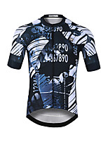 cheap -CAWANFLY Men's Short Sleeve Cycling Jersey Rough Black Bike Jersey Top Mountain Bike MTB Road Bike Cycling Quick Dry Sports Clothing Apparel / Stretchy