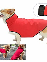 cheap -dog waterproof jacket polar fleece lined dog coat for winter, windproof warm coat adjustable cold weather snow rain vest dog cloak for small medium large dogs red m