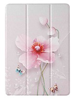 cheap -Case For Apple iPad 5 (2017) 9.7'' iPad 6 (2018) 9.7'' iPad 7 (2019) 10.2'' with Stand Flip Pattern Full Body Cases Pearl Flower PU Leather TPU for iPad 8 (2020) 10.2'' iPad Pro (2020) 11''