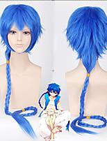 cheap -MAGI Aladdin Cosplay Wigs Men's Braid 28 inch Heat Resistant Fiber Curly Blue Teen Adults' Anime Wig