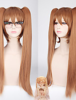 cheap -Cosplay Rosa Kirkland Cosplay Wigs Women's With 2 Ponytails 30 inch Heat Resistant Fiber Straight Brown Teen Anime Wig