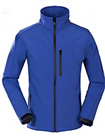 cheap -Men's Hiking Softshell Jacket Hiking Jacket Winter Outdoor Solid Color Thermal Warm Windproof Fleece Lining Breathable Winter Jacket Camping / Hiking Hunting Fishing Black / Red / Grey / Royal Blue