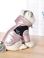 cheap -Dog Coat Jacket Color Block Casual / Sporty Fashion Casual / Daily Winter Dog Clothes Breathable Blue Pink Silver Costume Cotton S M L XL XXL