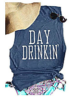 cheap -women& #39;s day drinkin& #39; casual tank funny letters print vest t-shirt & #40;xl, ink& #41;