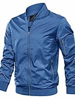 cheap -men's jacket-lightweight spring fall outdoor flight bomber coat, royal blue 2xl
