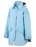cheap -lightweight outdoor rain jacket for women, reinforced waterproof & breathable coat,with removable hood for hiking, climbing, running, camping, cycling, blue m