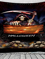 cheap -Halloween Party Wall Tapestry Art Decor Blanket Curtain Picnic Tablecloth Hanging Home Bedroom Living Room Dorm Decoration Pychedelic kull keleton Grim Reaper Pumpkin Haunted cary Grave Polyeter