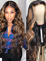 cheap -Synthetic Wig Body Wave Middle Part Wig Long Very Long Black / Gold Synthetic Hair 65 inch Women's Party Highlighted / Balayage Hair Dark Roots Blonde