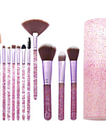cheap -Professional Makeup Brushes 12pcs Full Coverage Plastic for Makeup Brushes