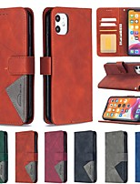 cheap -Case For Apple iPhone SE 2020 iPhone 11 Pro Max XR XS Max X 7 8 Plus 6 6s Plus Wallet Card Holder with Stand Full Body Cases Solid Colored PU Leather