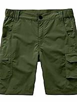 cheap -kids' boys' cargo shorts outdoor quick dry elastic waist fishing camping casual fishing cargo shorts #9048 army green-l