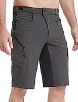 cheap -Men's Hiking Shorts Hiking Cargo Pants Tactical Pants Summer Outdoor Breathable Quick Dry Sweat-wicking Wear Resistance Cotton Shorts Bottoms Dark Khaki Shallow Khaki CP CP black Black Camping