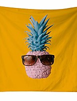 cheap -creative pink pineapple tapestry wall hanging décor, contemporary nordic style bohemian yellow tapestries wall art decor background mural bedspread beach throw table runner/cloth