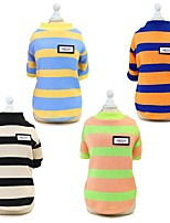 cheap -Dog Cat Sweatshirt Stripes Casual / Daily Winter Dog Clothes Black Pink Orange Costume Cotton S M L XL XXL