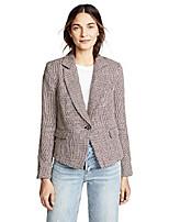 cheap -women's linen chess blazer, garnet, red, plaid, x-small
