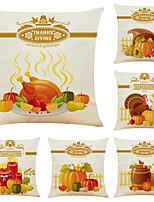 "cheap -Halloween Party Halloween Decor Horror Ghost Set of 6 Fruit pumpkin Linen Square Decorative Throw Pillow Cases Sofa Cushion Covers 18""x18"""