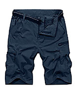 cheap -mens outdoor casual expandable waist lightweight water resistant quick dry fishing hiking shorts #6222-navy,42