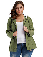 cheap -long rain jacket women's packable waterproof breathable rain coat army green 0x