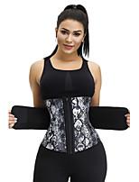 cheap -Body Shaper Sweat Waist Trimmer Sweat Waist Trainer Corset Sports Nylon Polyster Yoga Gym Workout Pilates Adjustable Durable Weight Loss Tummy Fat Burner Hot Sweat For Women