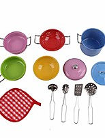 cheap -toddler play kitchen accessories set, stainless-steel toy pots and pans, play kitchen utensils , pretend toys