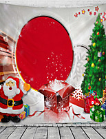 cheap -Christmas Santa Claus Holiday Party Wall Tapestry Art Decor Blanket Curtain Picnic Tablecloth Hanging Home Bedroom Living Room Dorm Decoration Gift Snow Tree Polyester