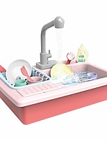 cheap -children dishwasher toys sink toy,preschool kitchen sink toy,pretend play set gift for kids role play with running water,educational toys (pink)