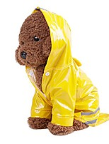 """cheap -pet dog hooded reflective raincoat,pet puppy dog waterproof windproof jacket rain poncho outdoor lightweight packable coat (s/back length:7.48"""", yellow)"""