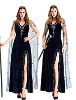 cheap -Cleopatra Retro Vintage Ancient Egypt Vacation Dress Dress Outfits Masquerade Women's Velvet Costume Black Vintage Cosplay Party Halloween Sleeveless / Headwear / Headwear