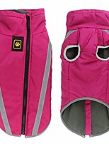 cheap -safety reflective waterproof clothes for large dogs winter warm puppy jackets padded fleece pet coat