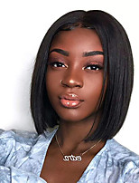 cheap -Synthetic Wig kinky Straight Bob Middle Part Wig Short Black Synthetic Hair Women's Fashionable Design Comfortable Middle Part Bob Black