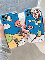 cheap -Case For Apple iPhone 7 8 7plus 8plus X XR XS XSMax SE(2020) iPhone 11 11Pro 11ProMax Shockproof Frosted Pattern Back Cover Cartoon TPU