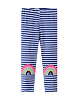 cheap -Kids Girls' Basic Striped Print Leggings Blue