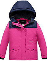 cheap -girls' outdoor waterproof parka soft fleece ski jacket(rose red,10/12)