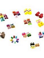 cheap -Dog Cat Ornaments Hair Accessories Bowknot & Hair Bows Cute Solid Colored Fabric Rainbow 10pcs