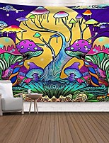 cheap -Wall Tapestry Art Decor Blanket Curtain Picnic Tablecloth Hanging Home Bedroom Living Room Dorm Decoration Polyester Print Colorful Cartoon Big Mushroom Abstract
