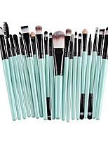 cheap -20 pcs pro makeup brushes set powder foundation eyeshadow eyeliner lip cosmetic clearance brush & #40;green black& #41;
