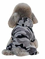 cheap -winter dog coat camouflage dog hoodies jumpsuit for pet dog camo soft velvet pajamas clothes apparel