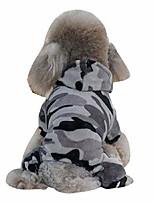 cheap -winter dog coat camouflage dog hoodies jumpsuit for pet dog camo soft velvet pajamas clothes apparel
