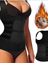 cheap -Waist Trainer Vest Body Shaper Sweat Waist Trainer Corset Sports Spandex Yoga Gym Workout Pilates Adjustable Weight Loss Tummy Fat Burner Hot Sweat For Men Women