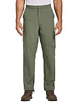 cheap -men's hiking cargo pants water resistant upf 50+ quick dry lightweight outdoor pant fishing camping green size m