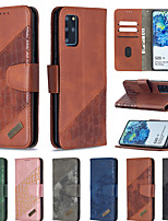 cheap -Samsung Galaxy S20Ultar S20 Note 20 Note10Plus S10Plus S9 Plus A70 A50 A30 A20 A10 M10 Card Holder Flip Cover Magnetic Full Body Protective Case Solid Color Crocodile Pattern PU Leather Leather Case
